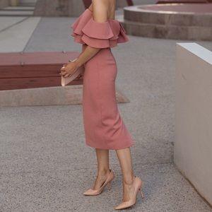 NWT KEEPSAKE No Reason Off the Shoulder Midi Dress